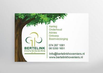 Visitekaartje Bertelink Hoveniers