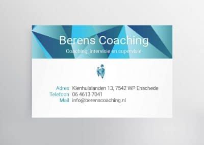 Visitekaartje Berens Coaching