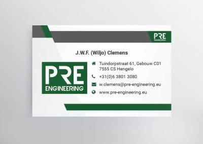 Visitekaartje PRE-engineering