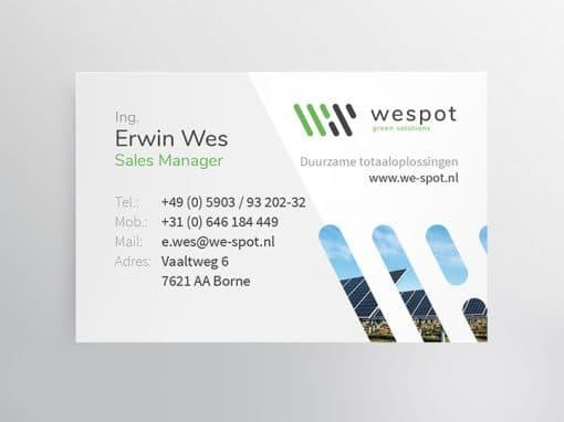 Visitekaartjes WeSpot